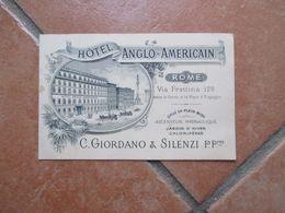 HOTEL ANGLO AMERICAN C.Giordano & Silenzi P.Pres Via Frattina - Bar, Alberghi & Ristoranti