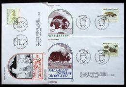 Greenland 1995   Animals In Greenland  Minr.274-76       FDC   ( Lot Ks ) - FDC