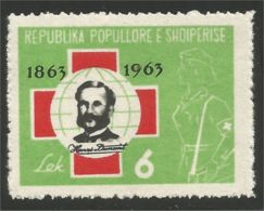 120 Albanie 1963 Henry Dunant Red Cross Croix Rouge Rot Kreuz MH * Neuf CH (ALB-289) - Henry Dunant