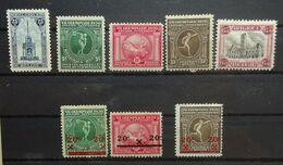BELGIE 1919   Nr. 164 / 179 - 181 / 182 /  184 - 186   Scharnier *   CW  14,00 - Nuovi