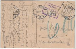 "DR-Infla - Portokontrolle ""600"", Unfrankierte Karte Nürnberg - Selb 23.10.22 - Deutschland"
