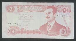 RS - Iraq 5 Dinars Banknote 1992 #kh1/504 0334238 - Irak