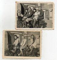 FAMILIE  OP   DE MOTO   VERMOEDELIJK  UIT   HOEILAARDE ? ? -    8.502 OP 6  CM - Photographs