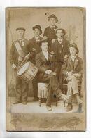 Photographie Ancienne Sur Support Cartonné épais, D' Un Groupe De Conscrits. Cliché KOCH à Bourbonne-les-Bains - War, Military