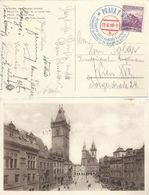 "AK  ""Prag - Altstädter Ring""  (Sonderstempel Eishockey WM)            1938 - Czechoslovakia"
