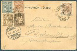 1899 Austria Bodensee Postcard. Österreich - K.K. Österr. Schiffspost A. Bodensee. Switzerland Bayern Wurtt. Ship Post - Brieven En Documenten