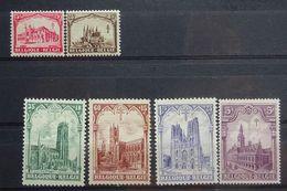 BELGIE 1929     Nr.  267 - 272     Spoor Van Scharnier *      CW  35,00 - Belgium