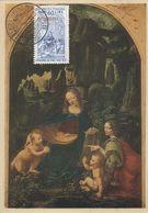 """9906-MAXIMUM - 60 L. DIPINTO """"LA VERGINE DELLE ROCCE"""" - 1952 - Maximum Cards"""