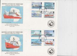 British Antarctic Territory 1993 Definitives / British Antarctic Ships 12v 3 FDC (BA151) - FDC