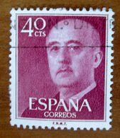 1955/1975 SPAGNA Generale Franco - 40 Cts  Usato - 1931-Oggi: 2. Rep. - ... Juan Carlos I