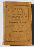 Rare Annuaire Almanach De 1893 Elbeuf Caudebec La Londe Freneuse Tourville Ciéon Orival Imprimerie Constant Allain - Old Paper
