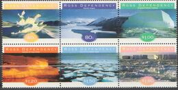 ROSS DEPENDENCY 1998 6 TP Se Tenant Ice Formations N° 60 à 65 Y&T Neuf ** Mnh - Ross Dependency (New Zealand)
