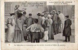 Publicité 108, Tuberculose à La Sortie De L'école, Ne Pas Cracher Par Terre (société 33 Rue Lafayette Paris - Publicité
