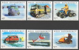 ROSS DEPENDENCY 2000 6 TP Transport On Ice N° 72 à 77 Y&T Neuf ** Mnh - Ross Dependency (New Zealand)