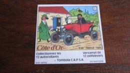 TINTIN AUTOCOLLANT COTE D'OR CITROEN N°2  5HP TREFLE 1925  HERGE - Tintin