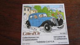 TINTIN AUTOCOLLANT COTE D'OR CITROEN N°4 7A 1934  HERGE - Tintin