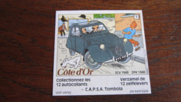 TINTIN AUTOCOLLANT COTE D'OR CITROEN N°5 2CV 1948  HERGE - Tintin