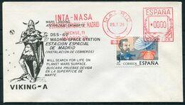 1976 Spain Madrid NASA Space VIKING A Mars Rocket Cover - 1931-Today: 2nd Rep - ... Juan Carlos I