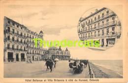CPA OOSTENDE OSTENDE HOTEL BELLEVUE ET VILLA BRITANNIA - Oostende