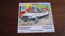 TINTIN AUTOCOLLANT COTE D'OR CITROEN N° AXEL  1984  HERGE - Tintin