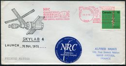 1973 Canada Fort Churchill SKYLAB 4 Space Rocket Cover. Polar Bear - Amérique Du Nord