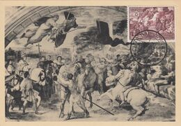 """9911-MAXIMUM - 25 L. DIPINTO """"S.LEONE INCONTRA ATTILA"""" - 1952 - Maximum Cards"""