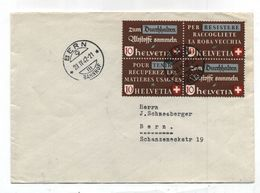 Switzerland Bern Bahnhof LOCALLY USED COVER 1942 - Zwitserland