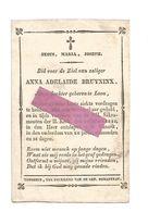DD 64. ANNA  ADELAÏDE BRUYNINX - Jonge Dochter Geboren Te LOON -  +HASSELT 1842  (26j.) / Prentje : S.JOSEPH - Devotion Images