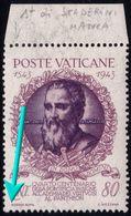 ✔️ Vaticano 1943 -  Varietá Senza ST Di STADERINI - Sass. 88 H ** MNH - Errors & Oddities