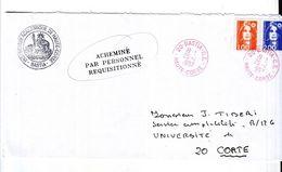Lettre Acheminée Par Le Personnel Réquisitionné Gréve Bastia 1997 - Strike Stamps