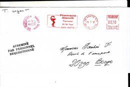 Lettre Acheminée Par Le Personnel Réquisitionné Gréve Bastia 1997 - Grève