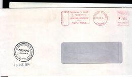 Lettre Pendant La Gréve Chambre De Commerce De Cognac 1974 - Grève