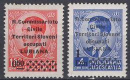 Italy - Lubiana - WWII Occupation - Set Of 2 - Mi 48 I~49 - 1941 - MNH - Lubiana