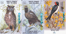 3 Télécartes Oiseaux BULGARIE Lot5 - Bulgarien