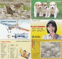 6 Télécartes COREE DU SUD Lot2 - Korea, South