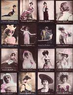 LOT Photographies Publicitaires Artistes Lyriques , Comédiennes De La Belle époque  à Identifier - Ancianas (antes De 1900)