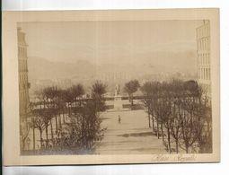 64 -  Grande Photographie Ancienne Sur Support Cartonné épais - PAU - Place Royale - Lugares
