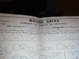 PLANCHES MAISON LOIRE FABRIQUE MOULURE LACROIX BATIGNOLLES 48 X 60 CM CIRCA 1880 - Architektur