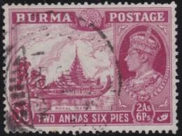 Burma      .    SG     .    24       .        O       .       Oblitéré    .   /   .   Cancelled - Burma (...-1947)