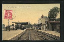 CPA Montgeron, Intérieur De La Gare - Montgeron