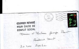Courrier Retardé Pour Cause De Conflit Social Pendant La Gréve De 1995 - Grève