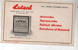 Buvard Cartonné : LUTEAL (prnted In Italy) (M0413) - Drogerie & Apotheke