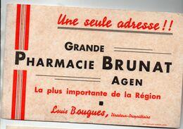 Agen (47 Lot Et Garonne)  : Buvard GRANDE PHARMACIE BRUNAT  (propr Louis Bougues) (M0414) - Drogerie & Apotheke