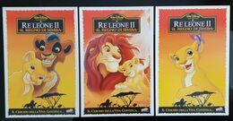 Il Re Leone II Movie Film Lot De 3 Carte Postale - Affiches Sur Carte