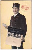 Gruss Aus Basel - & System Card, Mail Carrier, Facteur - BL Basle-Country