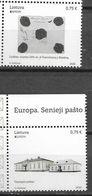 LITHUANIA, 2020, MNH, EUROPA, ANCINET POSTAL ROUTES,2v - Europa-CEPT