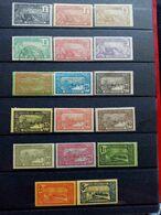 GUADELOUPE.1905 à 1907. N° 55 à 71. 16 Neufs+ 1 Oblitéré.  Côte Yvert 34,75 € - Guadalupe (1884-1947)