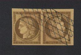 Reproduction N° 1 10 C Cérès Tête-bêche Oblitéré Grille Sans Fin - 1849-1850 Ceres