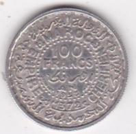 MAROC. 100 FRANCS AH 1372 (1953) . MOHAMMED V. ARGENT - Morocco