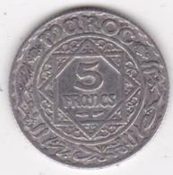 Maroc Protectorat Français. 5 Francs AH 1352 (1933), Mohammed V , En Argent - Marokko